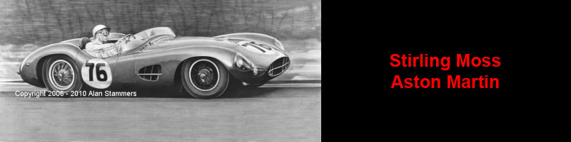 Stirling Moss Aston Martin Limited Editon Prints For Sale