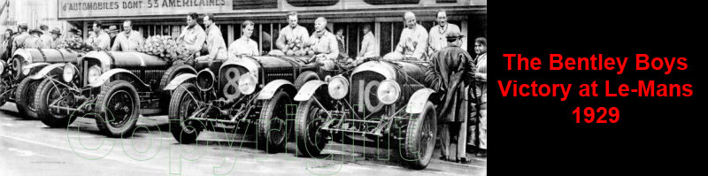 The Bentley Boys Victory At Le-Mans 1929 Limited Edition Prints For Sale